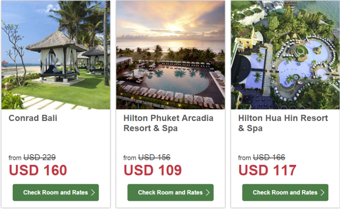 Hilton South East Asia Dream Resorts Promotion 2