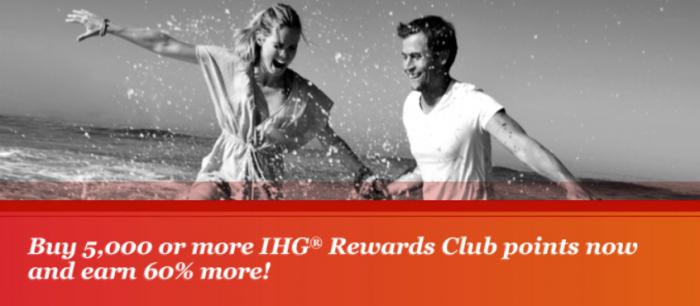 IHG Rewards Club Buy Points 60 Percent Bonus March 19 - 29 2015