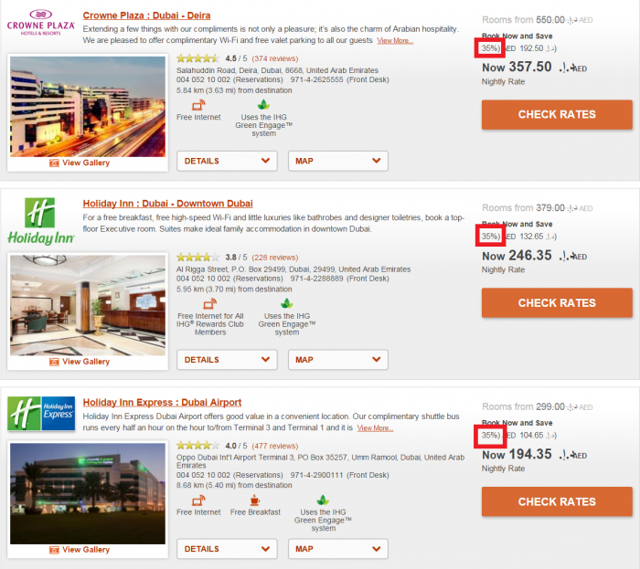 InterContinental Hotels Group IHG Rewards Club Travel Agent Discount Rate DXB 2