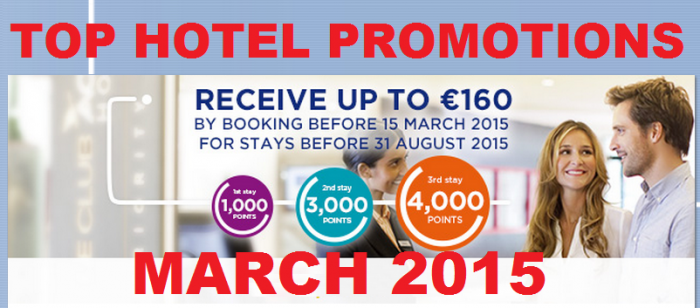 Le Club Accorhotels 8000 Bonus Points 160 Euros 3 Stays February 23 - August 31 2015