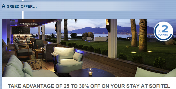 Le Club Accorhotels Sofitel Discount & Double Points Offer