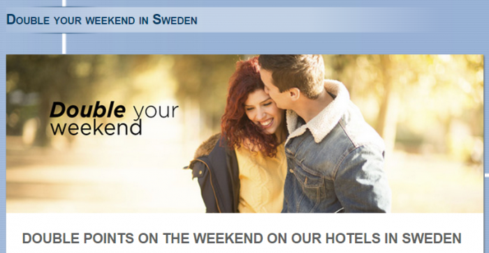 Le Club Accorhotels Sweden Weekends Double Points March 6 May 31 2015