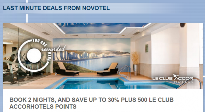 Le Club Accorhotels UK Novotel Offer March 6 - November 6 2015