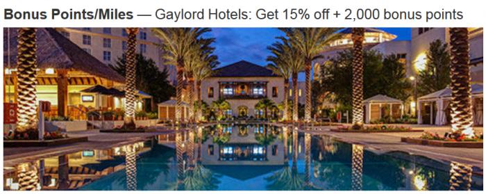 Marriott Rewards Gaylord Spring 2015 Offer