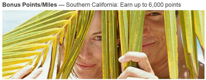Marriott Rewards Souther California 2,000 Bonus Points Per Night February May 2015