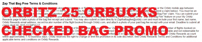 Orbitz Zap That Bag Fee