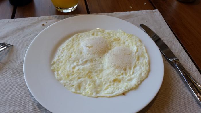 Park Hyatt Zanzibar Breakfast Fried Eggs