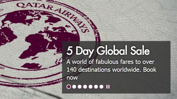 Qatar Airways Worldwide Sale