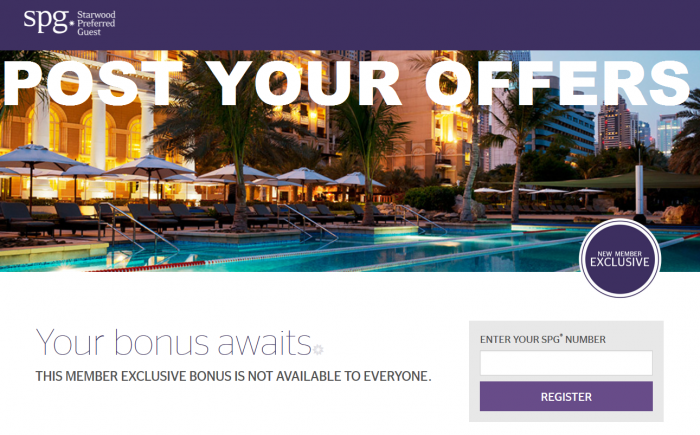 SPG Select Member Exclusive 6 Post Your Offers