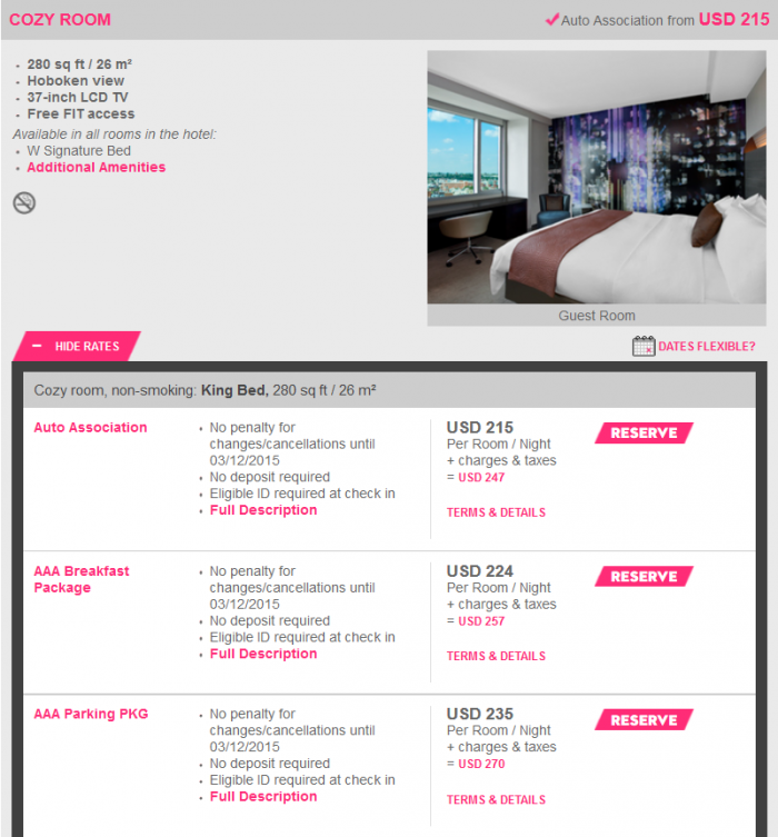Starwood Breakfast Plus 35 Off + Breakfast W Hoboken 1