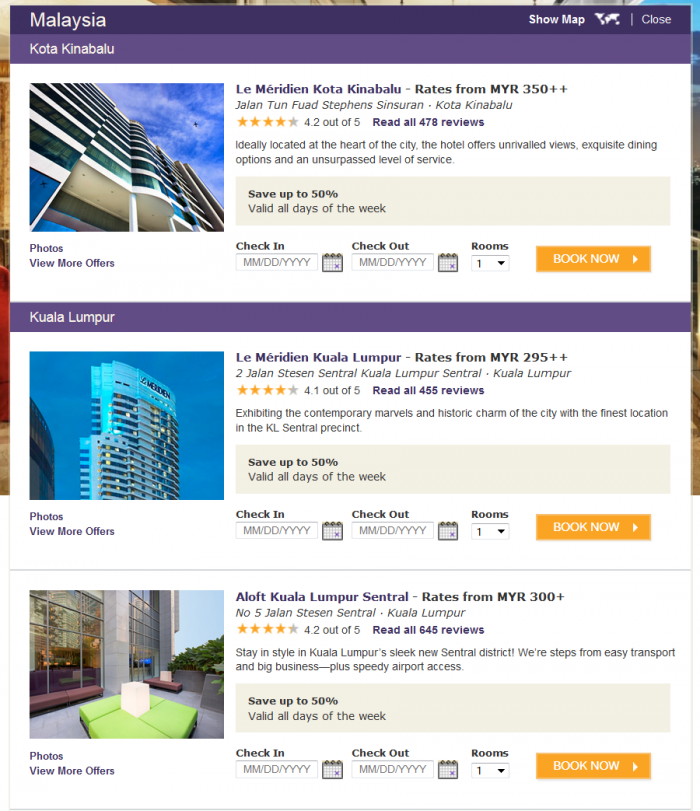 Starwood Preferred Guest (SPG) Up To 50 Percent Off Book By March 29 2015 Malaysia