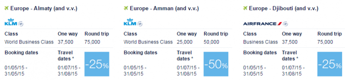 Air France-KLM Flying Blue Promo Awards May 2015 Middle East 1