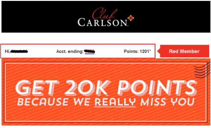 Club Carlson 20,000 Bonus Gold Points April 13 July 15 2015