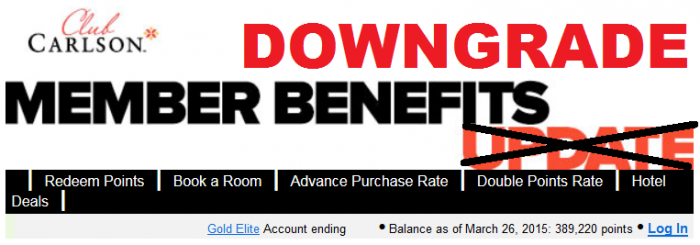 Club Carlson Member Benefit Update