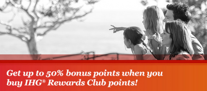 IHG Rewards Club Buy Points Up To 50 Percent Bonus Promo April 8 May 8 2015