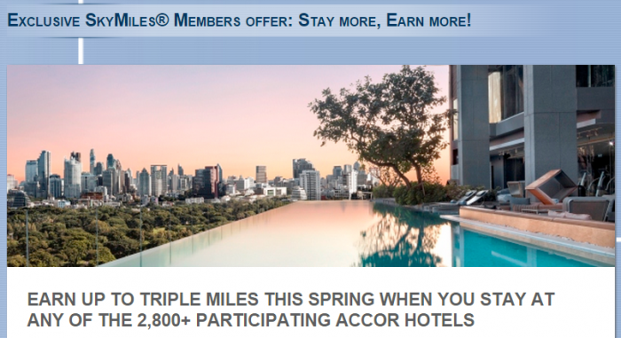 Le Club Accorhotels Delta SkyMiles Up To Triple Miles April 1 June 30 2015