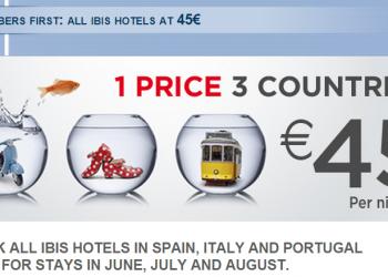 Le Club Accorhotels Ibis Spain Italy Portugal 45 Euro Set Price June 1 August 31 2015