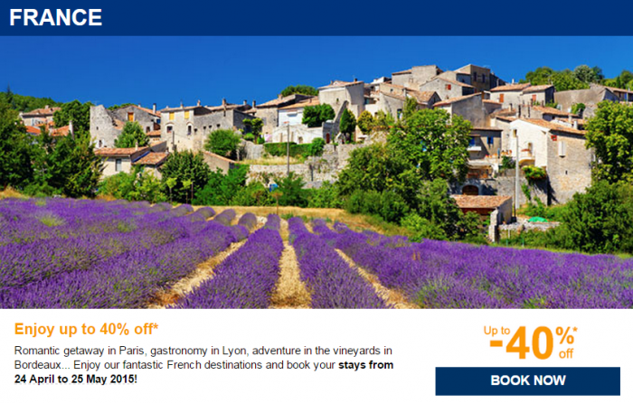 Le Club Accorhotels Private Sales April 2015 France