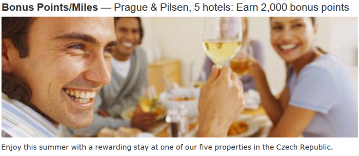 Marriott Rewards Czech Republic 2,000 Bonus Points June 29 - August 31 2015
