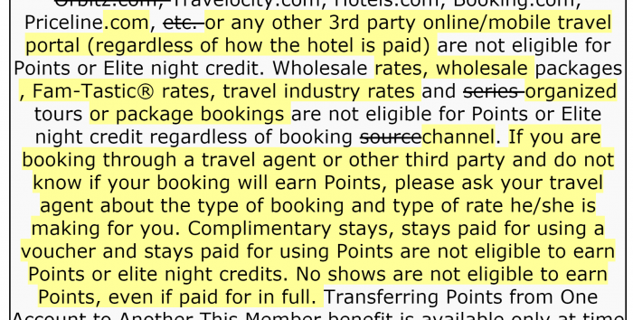 Marriott Rewards Terms and conditions update 2