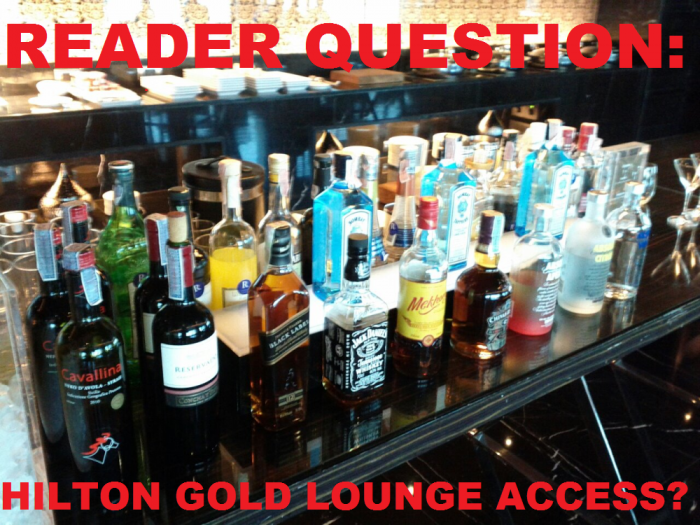 Reader Question Hilton HHonors Gold Lounge Access