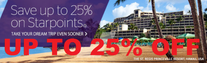 Starwood Preferred Guest Buy Points Spring 2015 Promotion