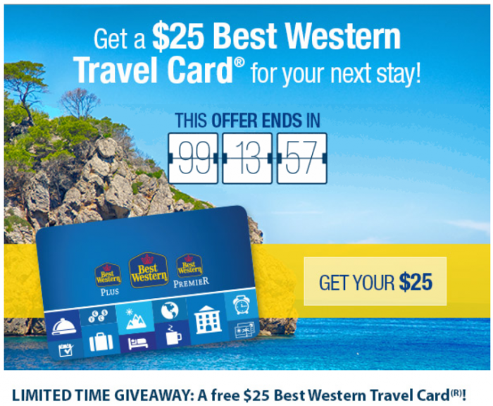 Best Western Rewards $25 Travel Card