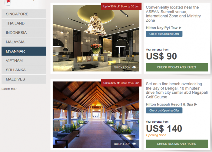 Hilton HHonors Southeast Asia Up To 30 Percent Off Sale Myanmar 1