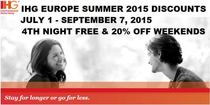 IHG Rewards Club Summer 2015 Discount Offer