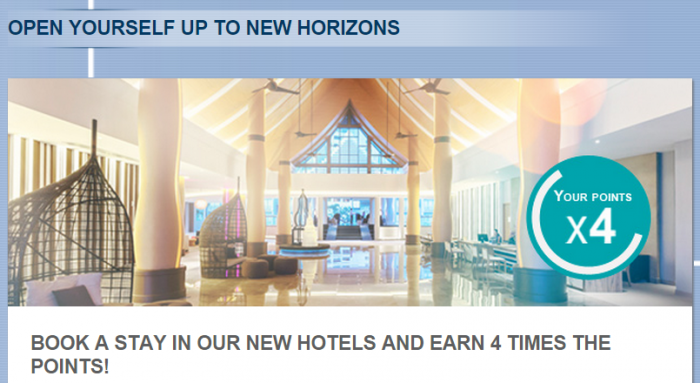 Le Club Accorhorels New Hotels Quadruple Points May 1 - June 30, 2015