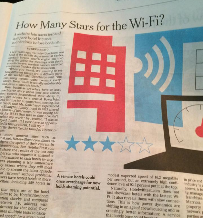 New York Times How Many Starts for the Wi-Fi
