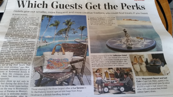 WSJ Which Guests Get The Perks