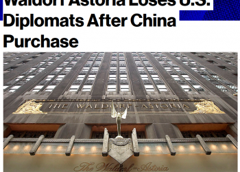 Bloomberg News Waldorf Astoria Loses U.S. Diplomats After China Purchase