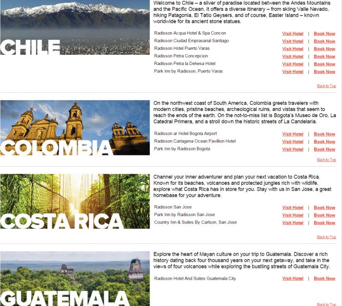 Club Carlson Latin America 25 Percent Off Awards Hotels 2