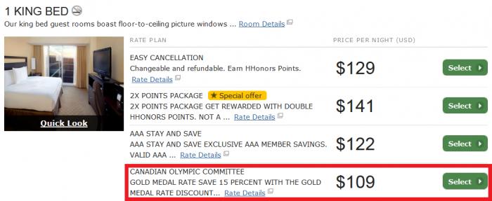 Hilton HHonors 15 Percent Gold Medal Rate Hilton Anaheim