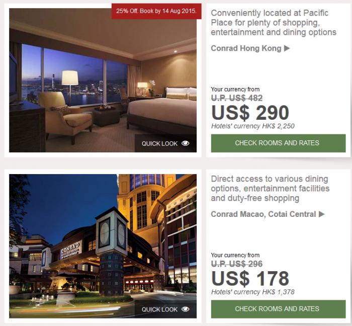 Hilton HHonors Greater China Summer Sale June 17 December 31 2015 Hong Kong & Macau
