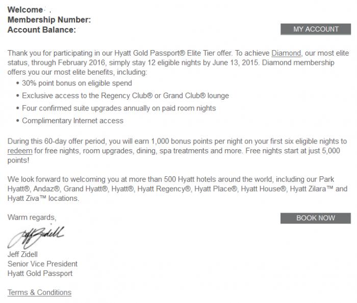 Hyatt Gold Passport Elite Tier Offer 2015 Body