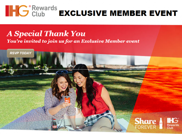 IHG Rewards Club Exclusive Member Event