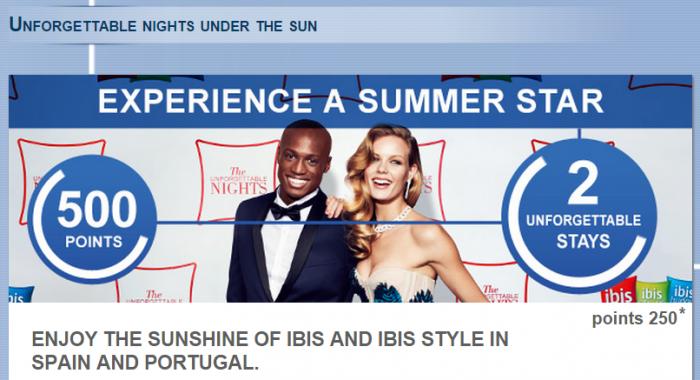 Le Club Accorhotels Spain Portugal Ibis Ibis Styles 500 Bonus Points July 1 August 31 2015