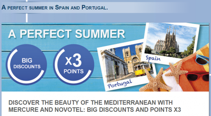 Le Club Accorhotels Spain Portugal Triple Points July 3 September 6 2015