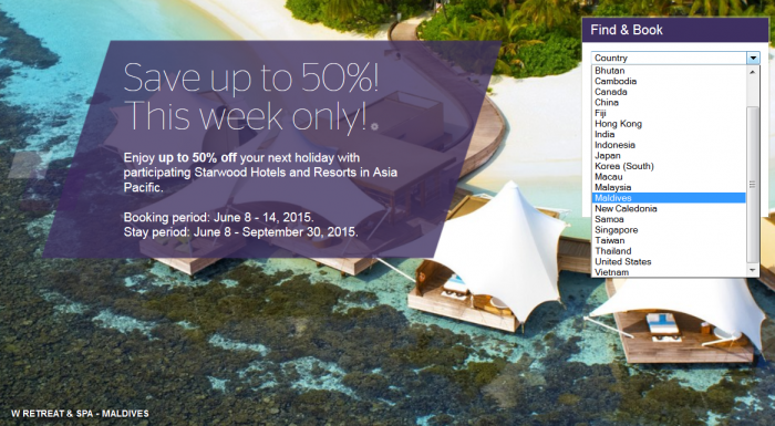 SPG Asia Pacific Red Hot Deal June 8 - September 30 2015