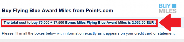 Air France-KLM Flying Blue Buy Miles Up To 50 Percent Bonus July 21 2015 Price