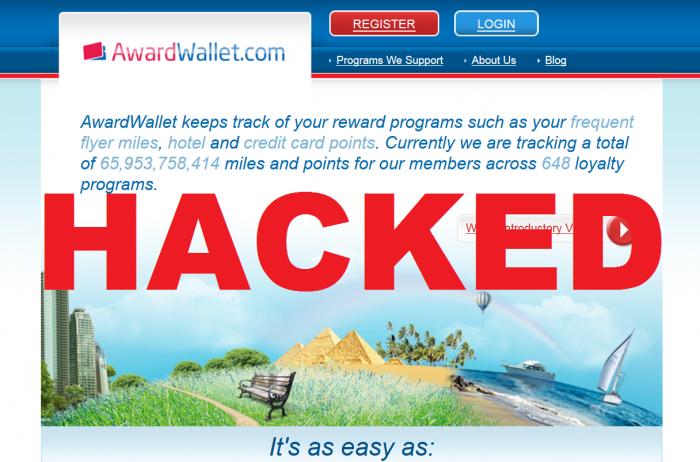 AwardWallet Hacked