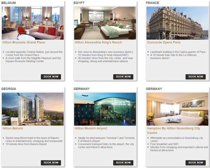 Hilton HHonors Bonus Miles Package Europe Middle East Africa 1