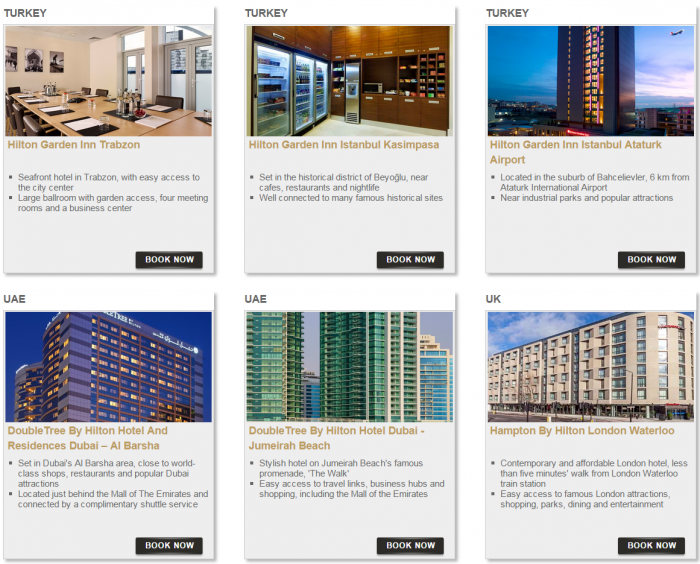 Hilton HHonors Bonus Miles Package Europe Middle East Africa 8