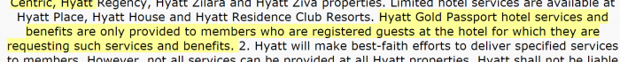 Hyatt Gold Passport July 2015 Update Registered Guest