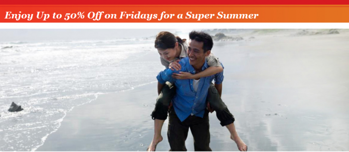 IHG Rewards Club Greater China Summer Fridays Up To 50 Percent Off Sale June 26 September 11 2015