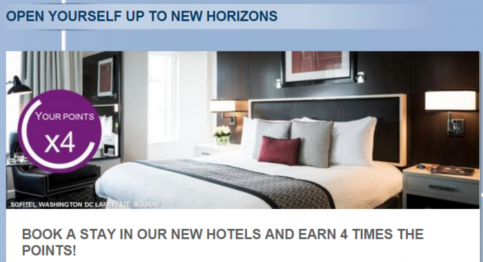 Le Club Accorhotels Quadruple Points New Hotels July 24 - September 30 2015