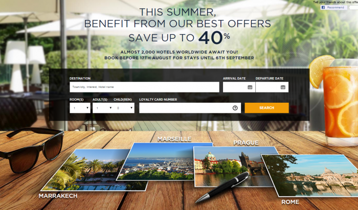 Le Club Accorhotels Up To 40 Percent Off Until September 6 2015