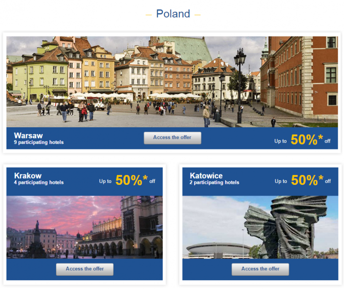 Le Club Accorhotels Weekly Private Sales July 13 - 20 2015 Poland 1